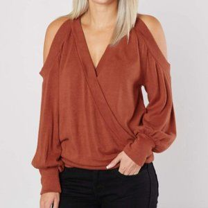 Willow and Root Cold Shoulder Sweater